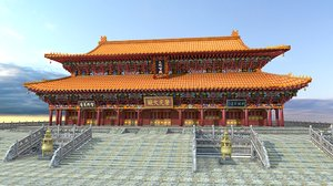 ancient chinese building 3D