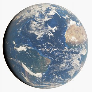 3D 21k photorealistic earth model