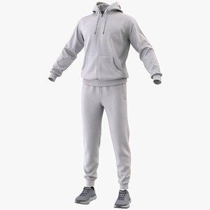 3D realistic sportswear suit clothing model