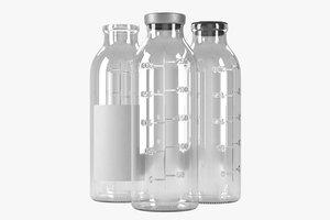 saline bottle 250ml 3D model