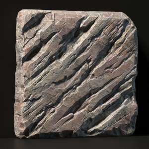 3D rock slab stone
