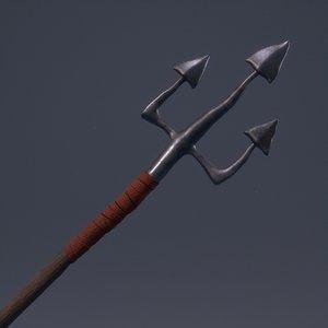 simple trident 3D model