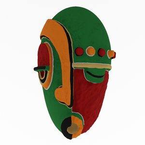 african mask 3D