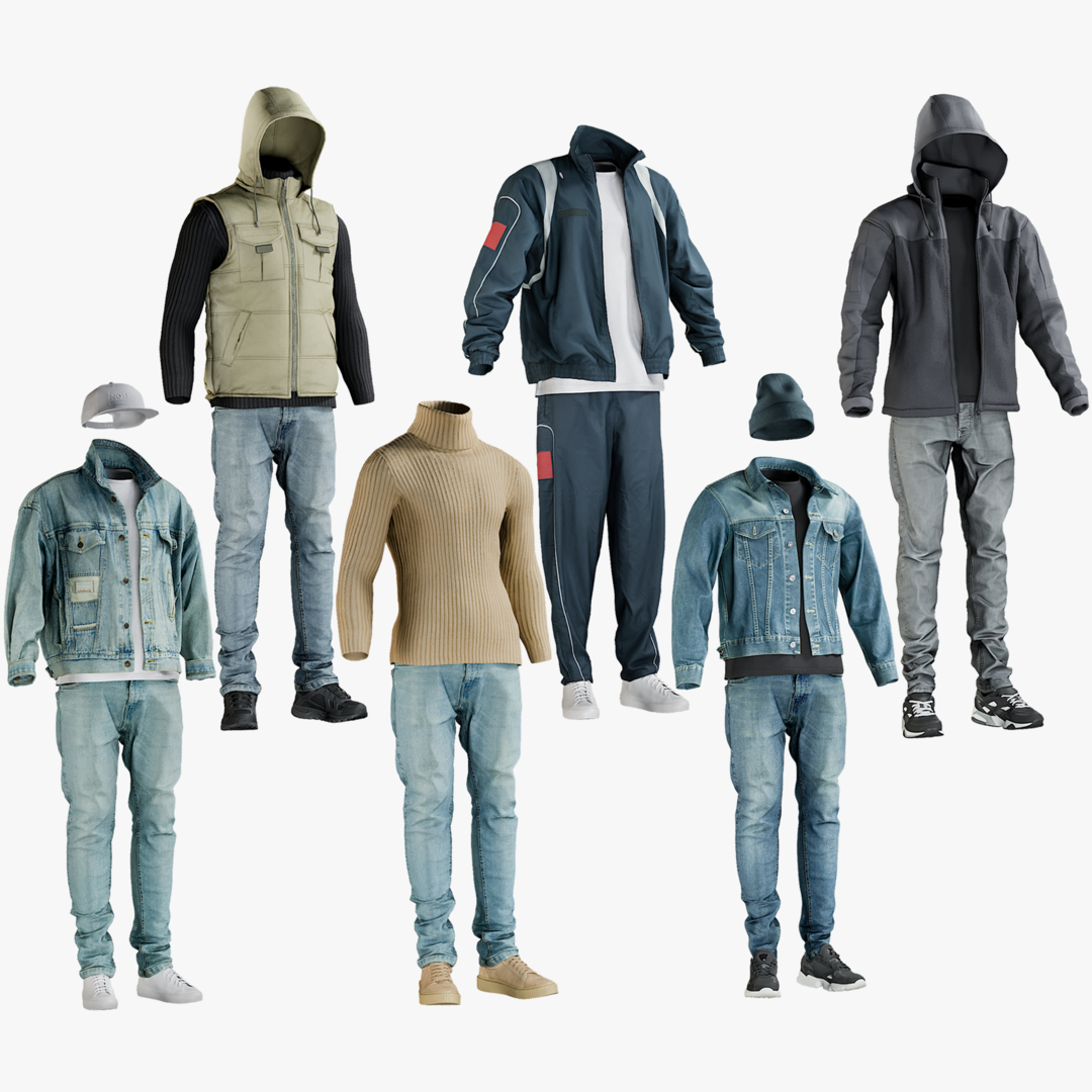 3D model realistic casual sport clothing - TurboSquid 1514019