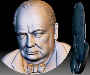 sir churchill portrait file model
