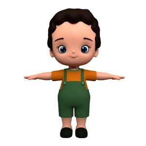 boy cute cartoon model