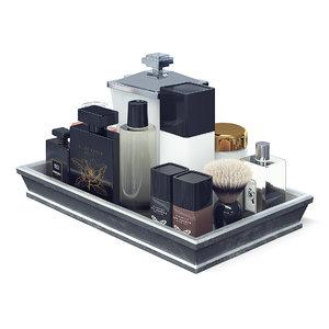cosmetics set 3D model