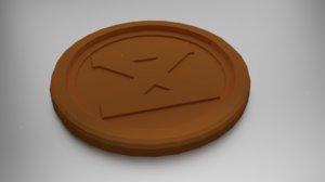 coaster dagaz 3D model