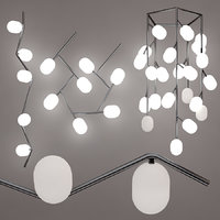 Suspended ceiling lamp brokis ivy set