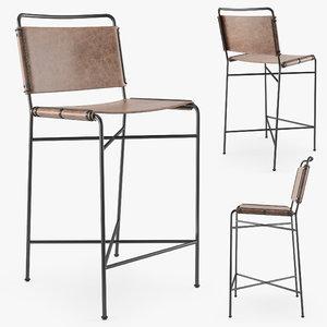 hands wharton bar stool 3D model