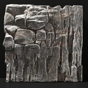 rock slab stone 3D model