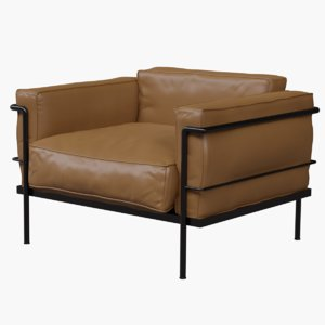 lecorbisier lounge chair 3D model