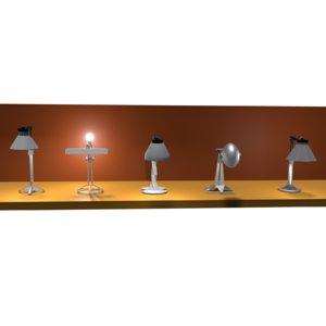 3D desklamp lamp