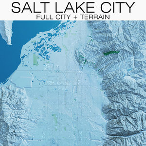 3D salt lake city terrain