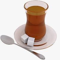 3d model persian tea