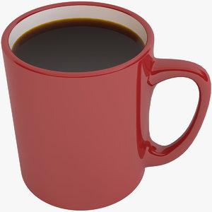 3D black coffee cup model