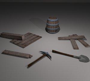 3D model miner pack