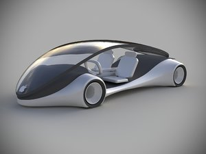 3D apple concept car model