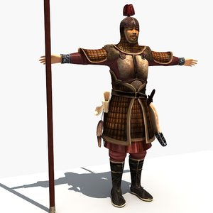 3D ancient soldier model