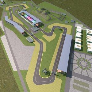 f1 track model