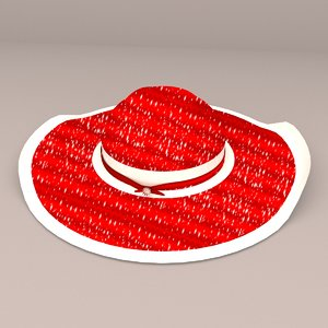 realistic hat 3D