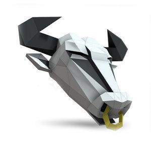3D sculpture bull mask