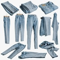 realistic womens folded jeans model