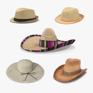 3D straw hats 2