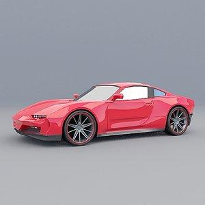 3D model generic cars concept