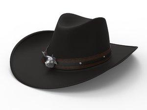 cowboy hat bull head 3D