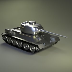 tank t-34-85 3D model