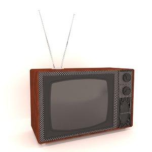 3D vintage television set