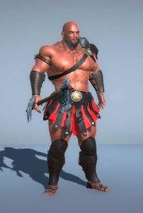 3D gladiator - model
