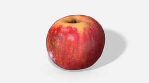fruit apple - photoscanned 3D