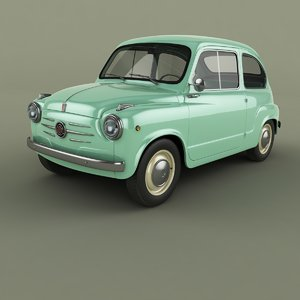 3D 1956 fiat 600