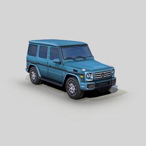3D mercedes benz amg g model