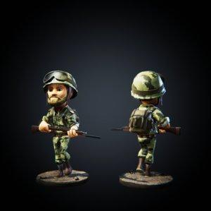 3D character pbr model