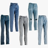 3D realistic womens jeans 1