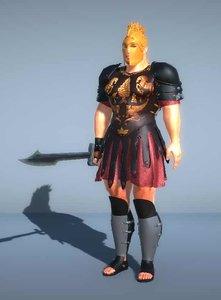 3D model gladiator king sword -