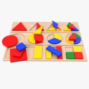3D baby learning blocks 2