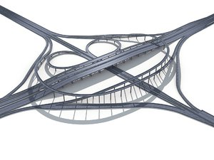 3D model viaduct highway