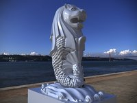 Merlion Low-poly