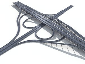 3D viaduct highway model