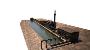 3D urfa lake fish model