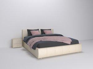 3D bedroom bed furniture