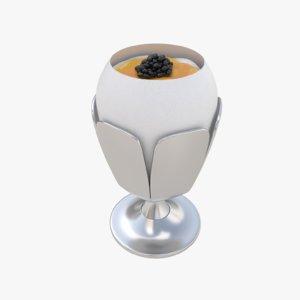 table egg caviar 3D model