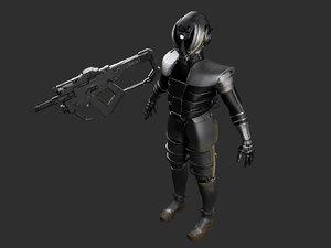 robot armor 3D model