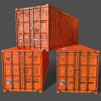 PBR 20 ft Shipping Cargo Container - Orange