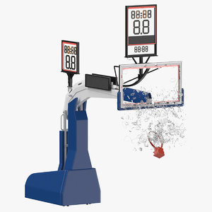 3D basketball board breaking pose model