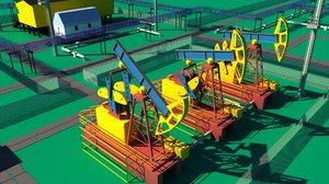 3D model oil rig